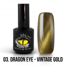 Gel Polish Dragon Eye Effect 03 - Vintage Gold 12ml