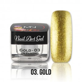 UV Painting Nail Art Gel - 03 - Gold - 4g