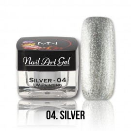 UV Painting Nail Art Gel - 04 - Silver - 4g