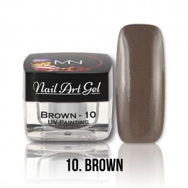 UV Painting Nail Art Gel - 10 - Brown - 4g