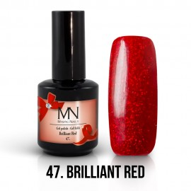 Gel Polish no.47. - Brilliant Red 12 ml