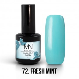 Gel Polish no.72. - Fresh Mint 12 ml