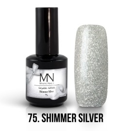 Gel Polish no.75. - Shimmer Silver 12 ml