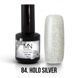 Gel Polish no.84. - Holo Silver 12 ml