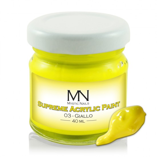 Supreme Akrilna boja - no.03. Giallo - 40 ml